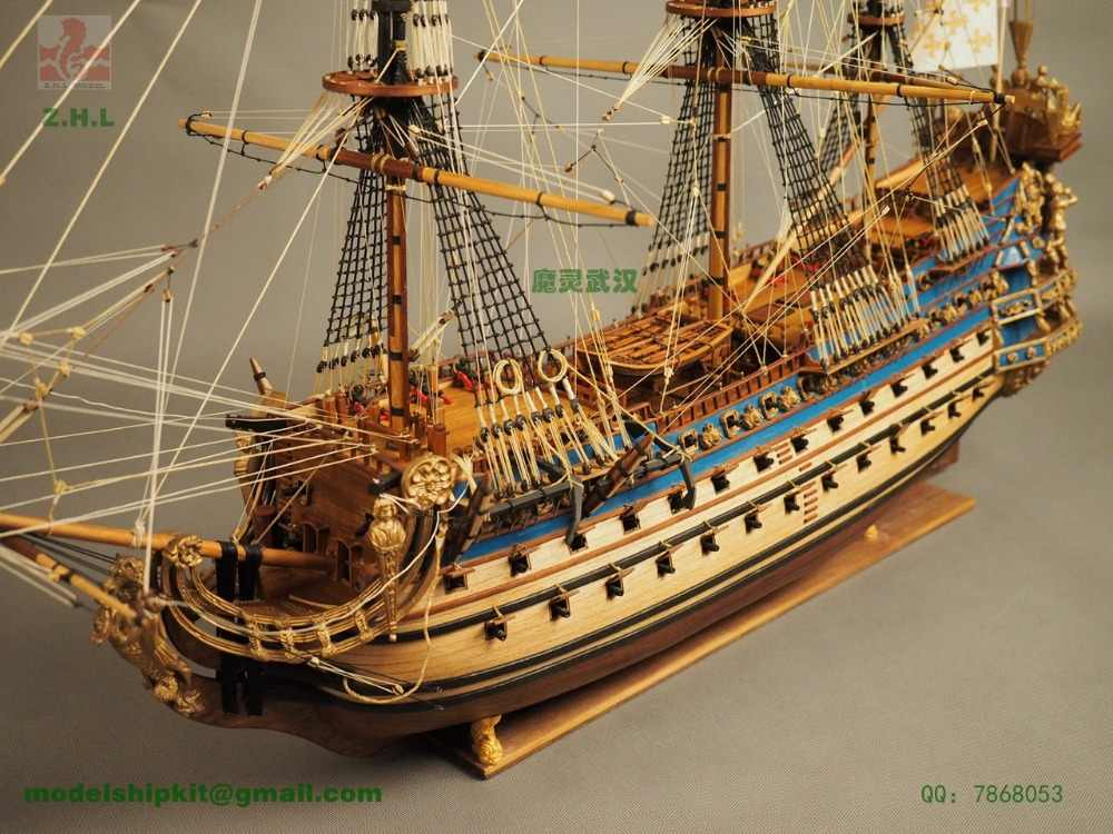 ZHL Le Soleil Royal 1669 model ship ZHL  the updated English Instruction for the latest version of Le Soleil Royal 1669 model