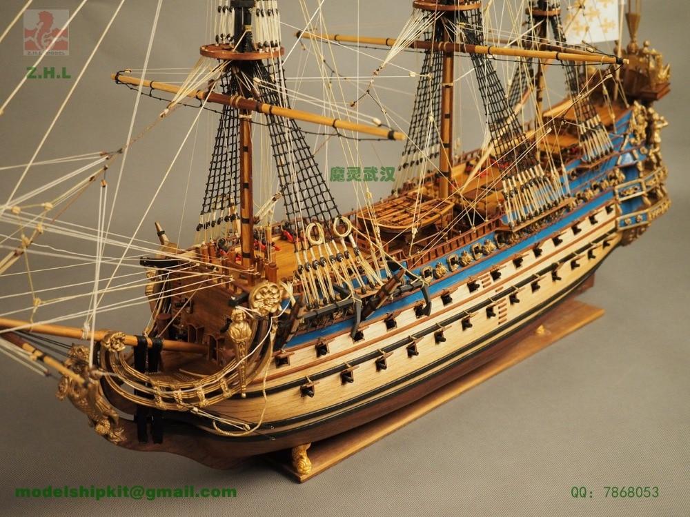 ZHL Le Soleil Royal 1669 modello modello di nave ZHL la versione aggiornata di Istruzioni in Inglese per la versione più recente di Le Soleil Royal 1669 modello