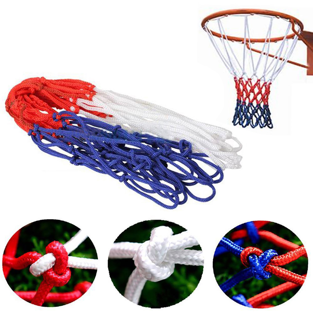 Great Standard Nylon Thread Basketball Hoop Mesh Net Backboard Rim Ball JP