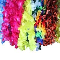 50 PCS Hawaiian Flower leis Garland Necklace Fancy Dress Party Hawaii Beach Fun Flowers DIY Party Beach Decoration