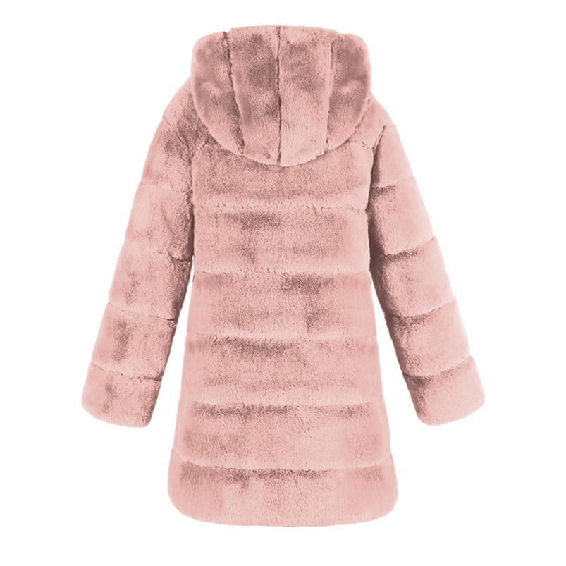 Zipper Winter Coat Women 2018 Sleeveless Fur Cashmere Hoodie Coat Girl Warm Pullover Thick Coat femenino #N28 (6)