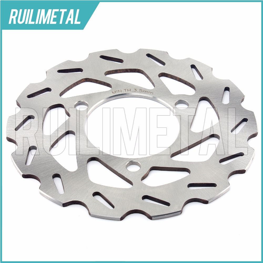 ATV QUAD Rear Brake Disc Rotor for HONDA TRX450R TRX450ER  2004 2005 2006 2007 2008 2009 2010 2011 2012 2013 2014 sintered brake pad set for honda 1000 xl a4 va4 9 varadero xl1000 2004 2005 2006 2007 2008 2009 2010 2011