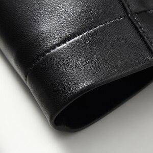Image 5 - Gours Winter Echtem Leder Jacke für Männer Mode Marke Leder Schwarz Schaffell Lange Jacken und Mäntel Warme Neue Ankunft 4XL