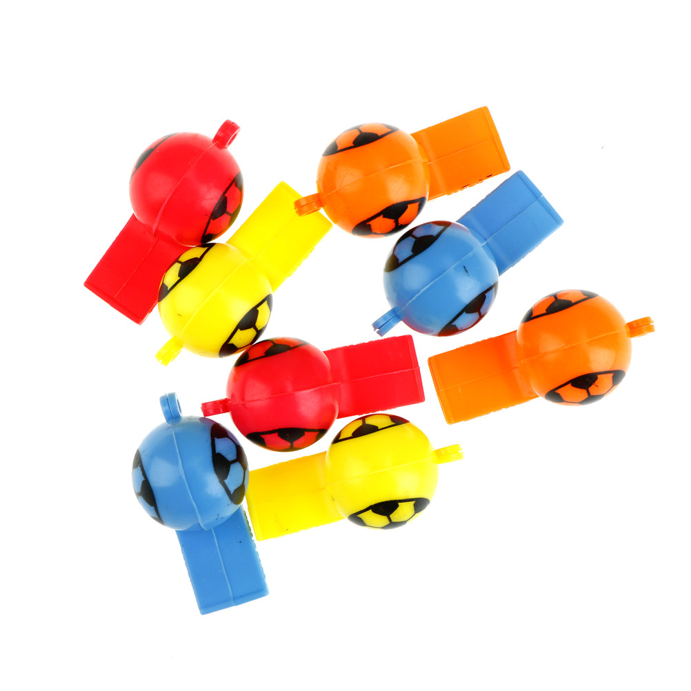 Toys & Hobbies 8pcs/lot Kids Whistle Outdoor Cheerleading Toys Children Plastic Whistles Toys Training Football Whistle Survival Limpid In Sight