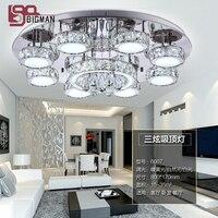 New Surface Mounted Modern LED Chandelier Living Room Light Dia80 H17cm Lustres LED Light Fixtures