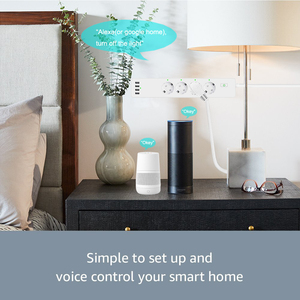 Image 4 - Wifi Smart Power Strip 4 EU Outlets Plug with 4 USBCharging Port Timing App Voice Control Work with Alexa Google Home Assistant