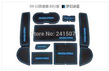 for 2009 – 2012 Mazda 6 M6 Car cup mat gate slot pad door carpets Interior decoration accessory Speed Atenza Auto Accessories