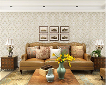beibehang tapety Non-woven 3D wallpaper living room with a version of 3d stereo European-style striped garden wall paper bedroom