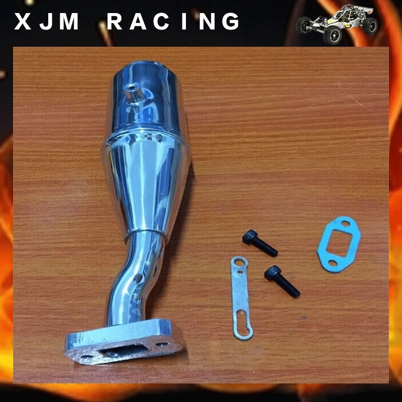 Hobby 1/5 RC Model Tuned /Exhaust pipe /Muffler fit KM RV HPI Baja 5B 5T Buggy