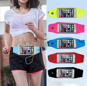 50pcs/lot Male/Female Running Jogging Sport Fanny Pack TravelSports Running Gym Waist Belt Bag Case Cover for iphone 6 Plus 5.5