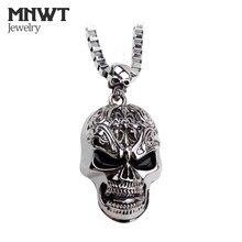 MNWT Cranio Collane con pendente In Europa e Negli Stati Uniti Lungo hip hop Punk Rock Uomo Collana Regalo di Halloween Gioielli Sautoir