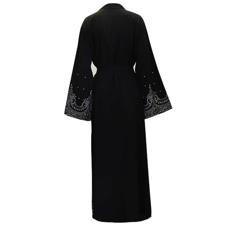 Рамадан Абая для женщин мусульманское платье хиджаб кимоно кардиган абайя, Кафтан Дубай ОАЭ Оманская одежда Femme Исламская одежда