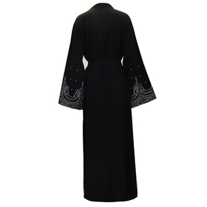 Image 5 - Ramadan Abayas For Women Muslim Hijab Dress Caftan Kimono Cardigan Abaya Kaftan Dubai Qatar UAE Oman Robe Femme Islamic Clothing
