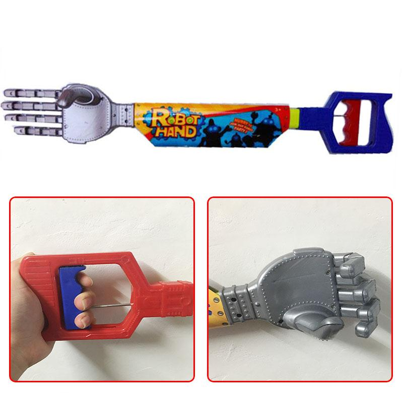 High Quality Plastic Robot Claw Hand Grabber Grabbing Stick Kid Boy Toy Move And Grab Things DIY Robot high quality candy grabber kids birthday party favors gift desktop mini dolls grabber machine claw toys free shipping