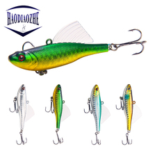 HAODIAOZHE Fishing Lure Minnow VIB Lures Crankbait Artificial Bait 6.5cm 17g Spoon cicadas wings Sinking Tackle YU244