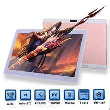 """Newest Google Tablets 10 inch 1280*800 3G SIM Phone Call Tablet PC Octa Core Bluetooth WIFI GPS Android 7.0 4GB+64GB"""" + Gifts"""