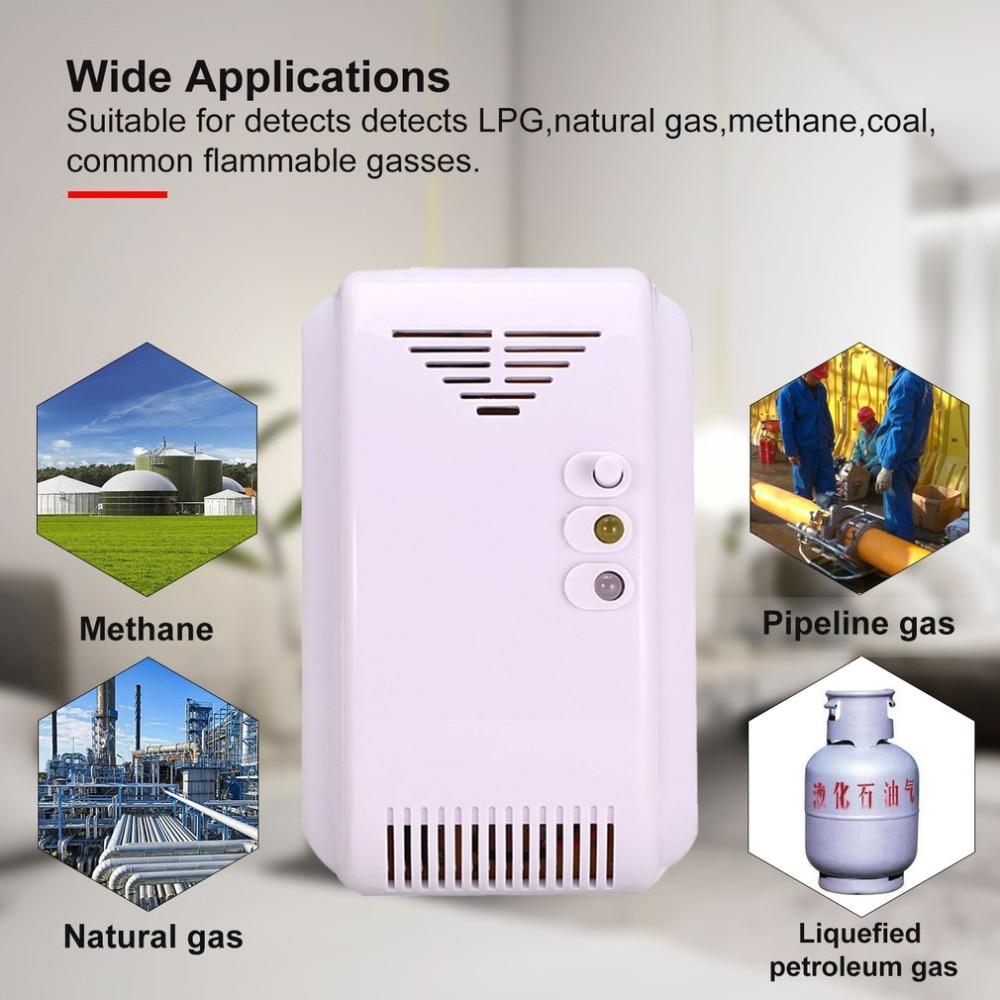 Combustible Gas Detector Sensor Lpg Natural Gas Analyzer Leak Determine Tester Sound-light Alarm Security Alarm System Eu Plug Fire Protection Carbon Monoxide Detectors