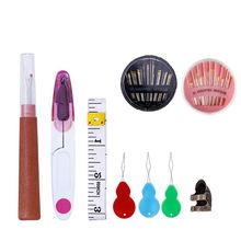 Embroidery Stitching Hand Sewing Tools Set Finger Protector Needles Seam Ripper Yarn Scissor Needle Threaders Ruler For DIY