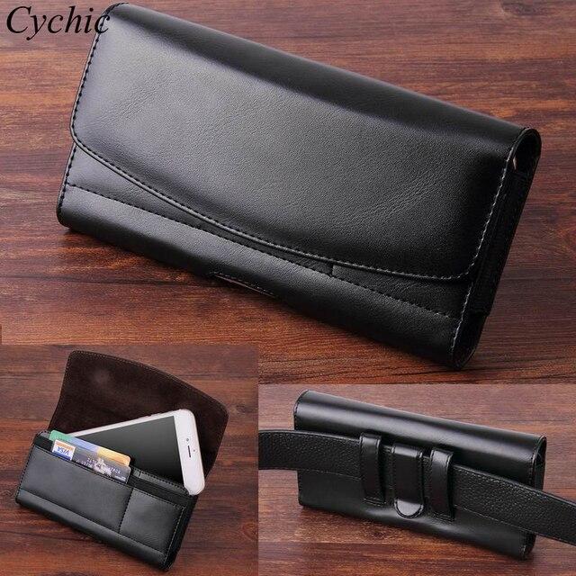 Cychic Hommes Clip Ceinture Housse En Cuir Taille Sac Téléphone Cas pour  Samsung S9 S8 Plus ... 00ff14b501f