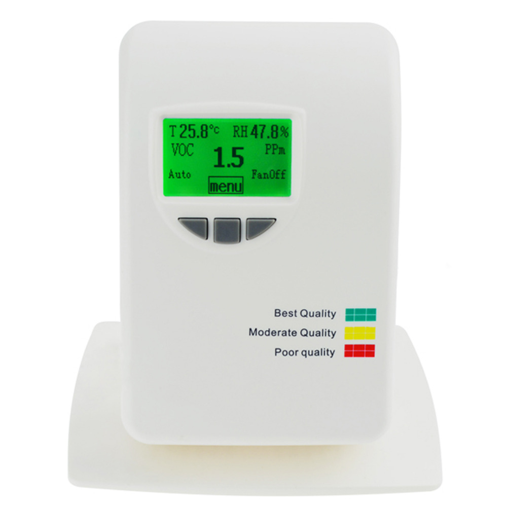 VOC Tester for Home Type Indoor Offices Bedrooms 0~50ppm Air Quality IAQ Meter Detector Temperature, Humidity, Air Contaminants indoor air quality pm2 5 monitor meter temperature rh humidity