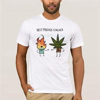 2019 S XXX hombres estampado divertido humo Weed impreso blanco Camiseta de manga corta O cuello Harajuku Streetwear verano Casual camiseta