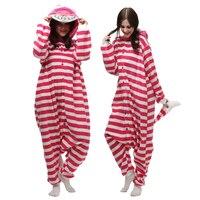 Free Shipping JP Anime Cheshire Cat Onesie Cosplay Costume Pajamas Adult Pyjamas Party Kigurumi Unisex