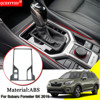 Car Styling For Subaru Forester SK 2019 ABS Chrome Car Interior Gear Box Decorative Frames Sequins Cover Car Sticker Accessories