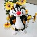 Looney Tunes Sylvester The Cat 17 cm Muñeco de Peluche de Felpa Mini Peluches Peluches Anime muñeco de Peluche Regalos de Juguetes, Juguetes de los niños para Los Niños