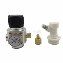 0~90PSI Mini CO2 Gas Regulator 3/8 Thread With Corny keg ball lock disconnect for beer tap,homebrew GAS regulator