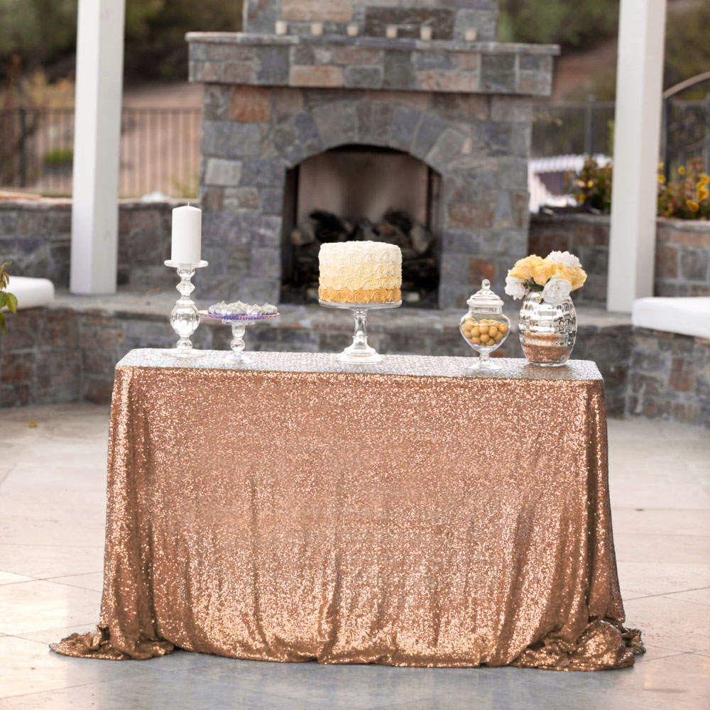 "60"" X 102"" Sequin Tablecloth Sparkling Sequin Table Cover ..."