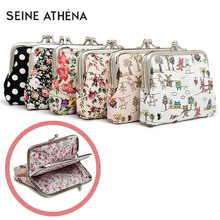 цена на Canvas Women Coin Purse Small Mini Bag For Coin Plush Purse Wallet Girl Little Bag For Ladies Small Pouch Kawaii Children Wallet
