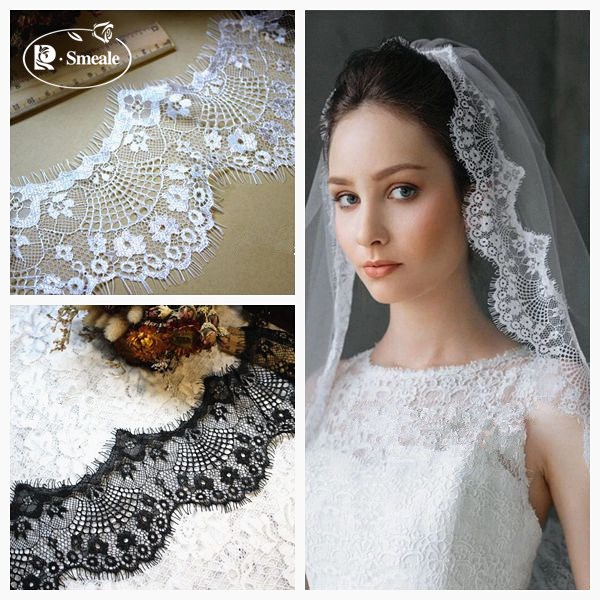 18m/ Lot Eyelash Lace Fabric...