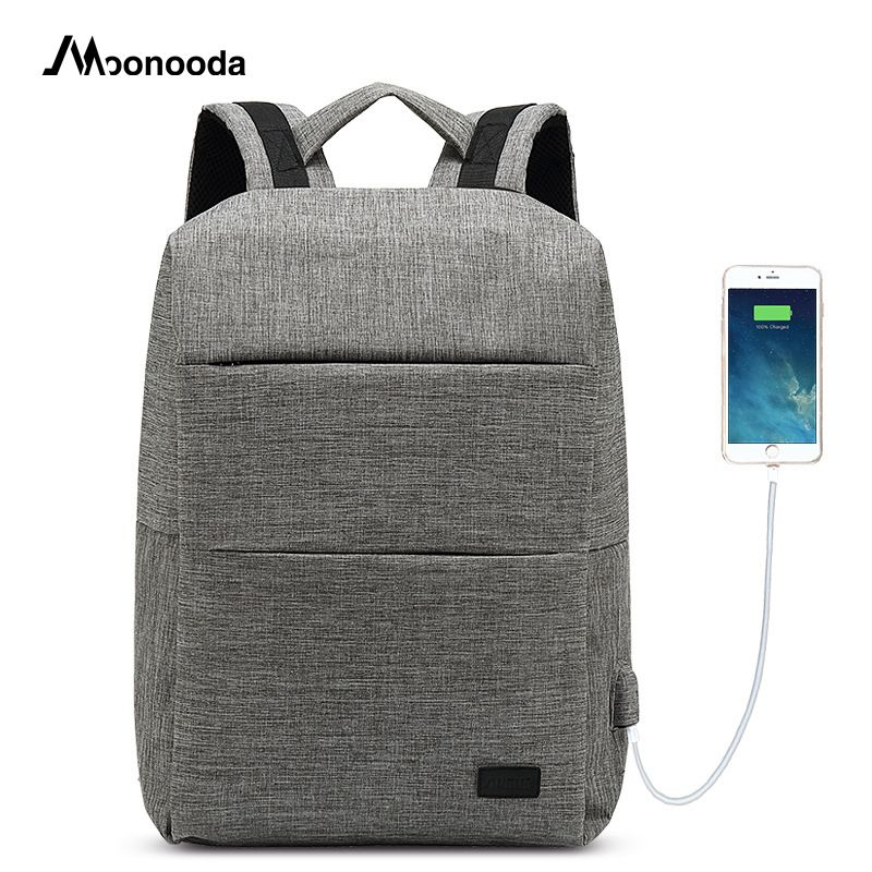Moonooda Casual Business Travel Large-capacity Computer USB Backpack Oxford Waterproof Back Pack Bag School Bag Laptop Backpack arctic hunter oxford men backpack casual shoulder bag large capacity waterproof laptop computer backpack school bags mochilas