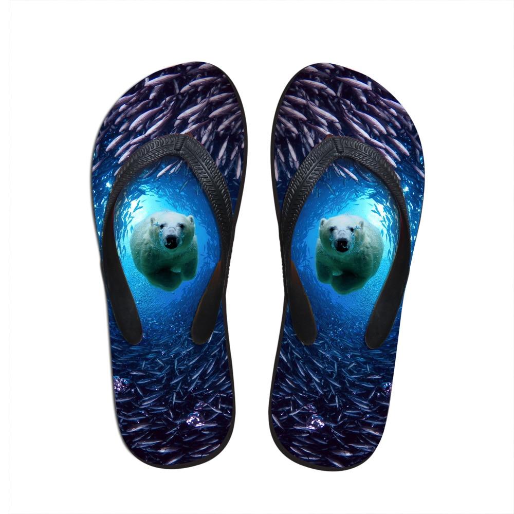 New Fashion animals printed flip flops for mens cool 3d dog beach flat flip flops leisure casual beach chinelo male bath slipper