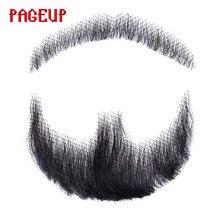 Pageup Nep кружево борода искусственная борода для мужчин усы ручной работы настоящие волосы Barba Falsa косплэй Швейцарский Невидимый бороды
