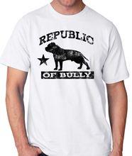 Top Quality T Shirts O Neck American Bully Pitbull Short Sleeve T Shirt For Men