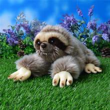 33CM Kawaii Lying Three-toed Sloth Plush Toys Soft Simulation Animal Toys Sloths Plush Dolls Christmas Gifts