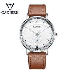 CADISEN 2019 nowe męskie zegarki Top marka luksusowy zegarek mężczyźni proste wodoodporny zegarek kwarcowy zegarek na rękę mężczyzna Relogio Masculino w Zegarki kwarcowe od Zegarki na
