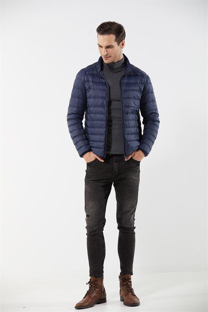 Customized White Duck Down Jacket Men Winter Ultralight Light Male Parka Coats Man Brand Clothing Water Resistant Outwear Autumn1