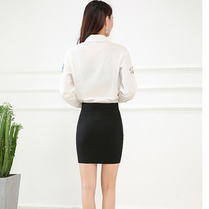 Image 5 - New Fashion Spring Office  Basic Skirts  Pencil Skirt High Waist  Stretchy Skirts