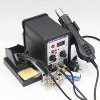 Riesba 8586 2 in 1 SMD 재 작업 스테이션 납땜 스테이션 전자 제품 용 핫 에어 용접 스테이션 도구 납땜 도구