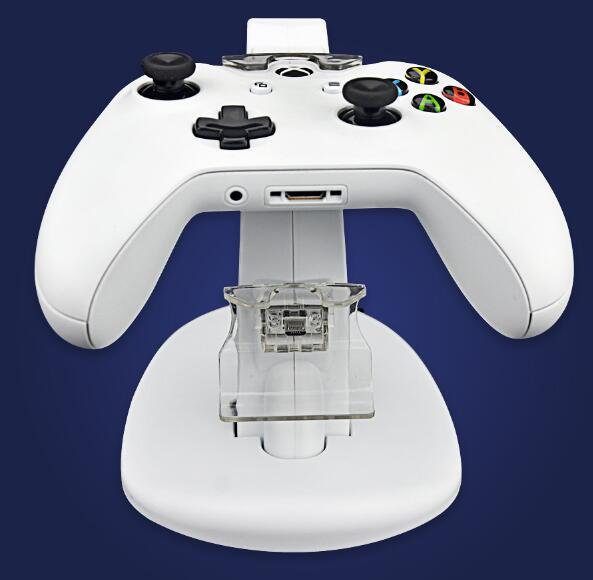 DC 5V Dual Controller Charging Dock Station Charger Stand for Microsoft Xbox One S Xbox One Slim Controller Power Supply white in Chargers from Consumer Electronics