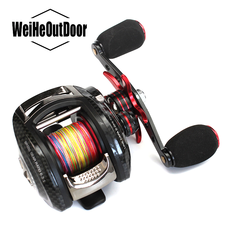 Spinning Fishing Reel Water Drop Wheel BR100 6.3:1 Left  Right Hand 12+1BB High Speed Baitcasting Reel Carp Fishing Peche Pesca smart baitcasting reel 6bb 6 2 1 right left hand reel molinete peche carretilha carretes pesca lure wheel fishing line winder