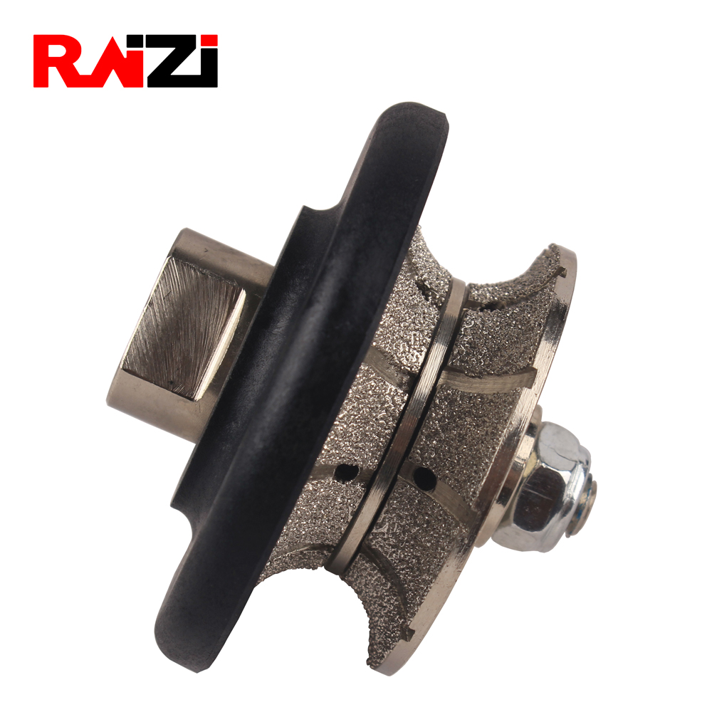Raizi Full Bullnose Vacuum Brazed Granite Diamond Profile Wheel Marble Hand Profiling Wheels 5/8