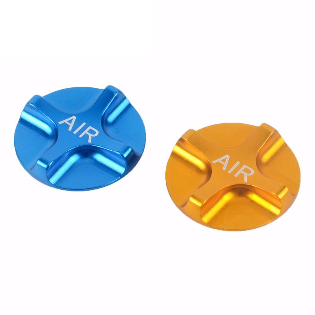 1PC CNC Mountain Bike Air Gas Fork Value Cover MTB Front Fork Cap Protector Bicycle Parts Gold Blue
