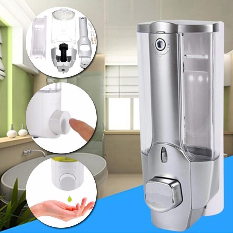 350ml Plastic Liquid Soap Dispenser Wall Mount Sanitizer Dispensador For Kitchen Bathroom Shower Shampoo Vessel Container