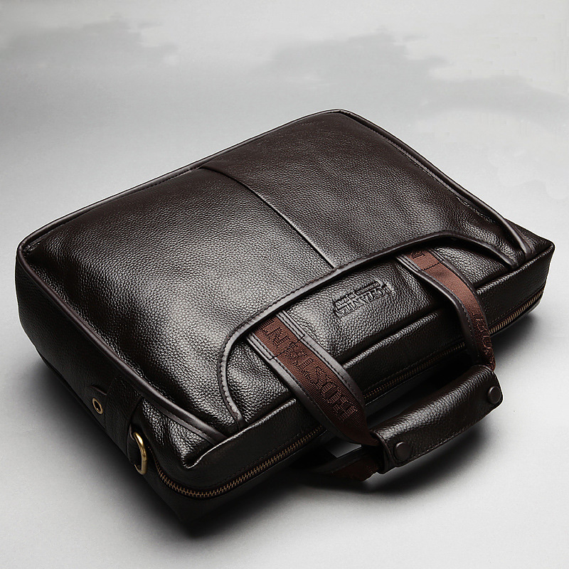 New Fashion Cowhide Male Commercial Briefcase Real Leather Vintage Men's Messenger Bag Genuine Casual Natural Men Business Bag