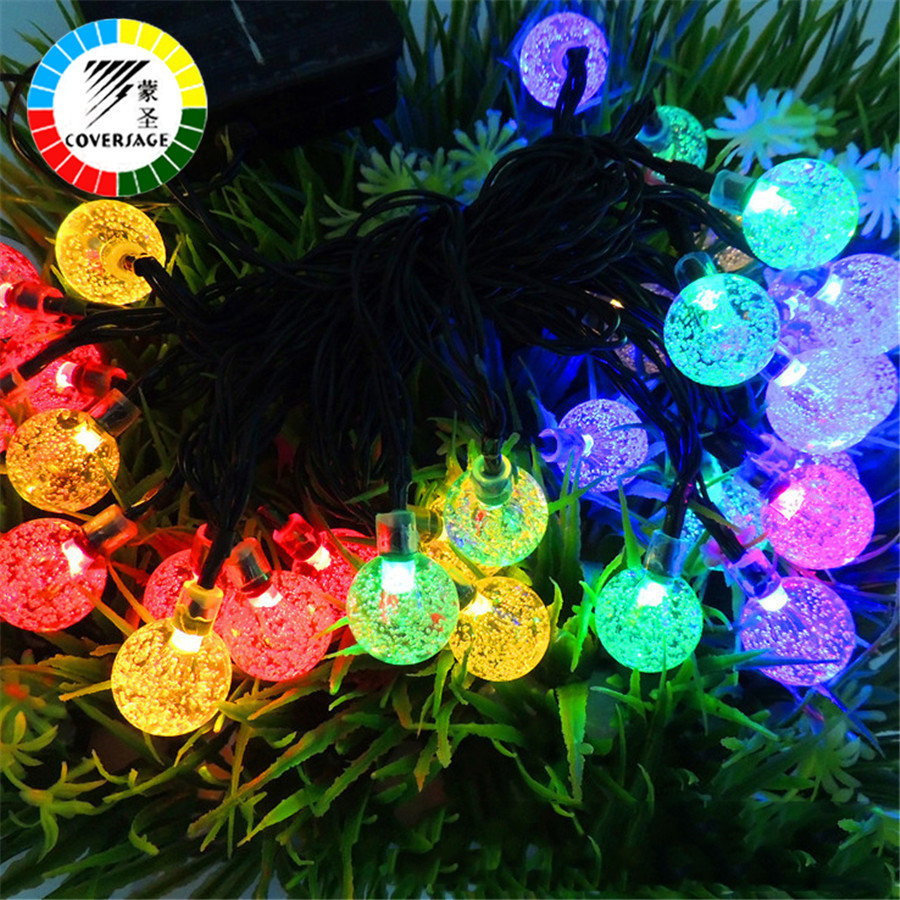 Coversage 30Leds Solar Lights For Garden Decoration Outdoor Waterproof Holiday Lighting Fairy Lamps String Lights Ball