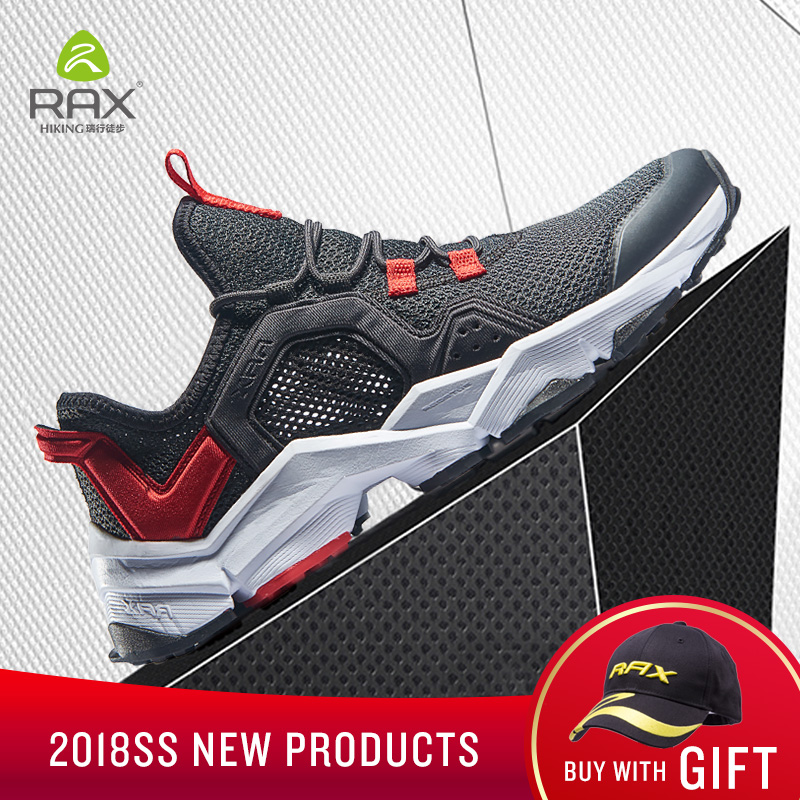 RAX Running Shoes Men&Women Outdoor Sport Shoes Breathable Lightweight Sneakers Air Mesh Upper Anti-slip Natural Rubber Outsole peak sport men outdoor bas basketball shoes medium cut breathable comfortable revolve tech sneakers athletic training boots