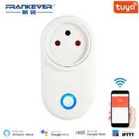FrankEver 16A Wifi Smart Socket Israel Plug Outlet Works With Google Home Alexa IFTTT Tuya Smart life APP